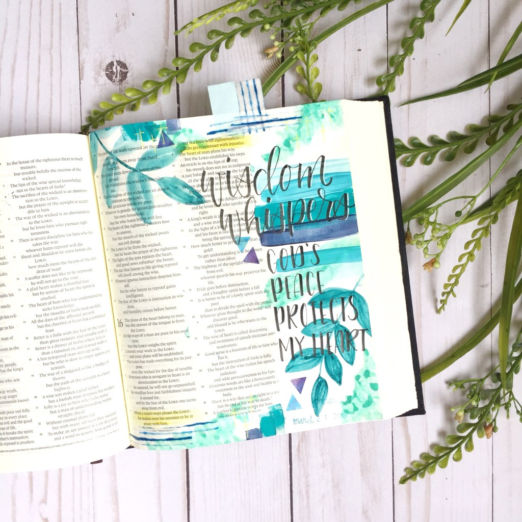 Bible Journaling With Mixed Media- Plus A Free Printable