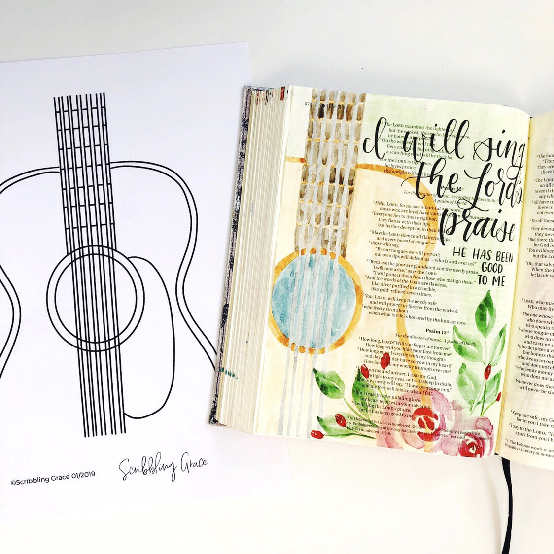 image about Free Printable Bible Journaling Pages called Tutorials Archives - Website page 2 of 5 - Scribbling Grace