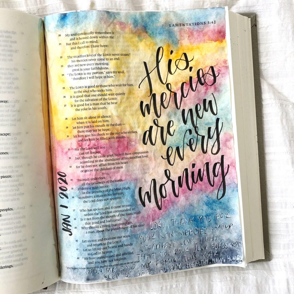 Watercolor Sunrise Bible Journaling Tutorial - Scribbling ...