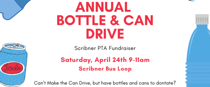 Annual Bottle & Can Drive Tomorrow
