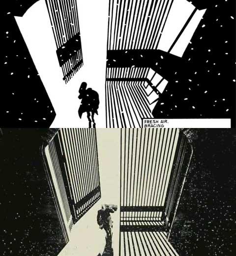 Sin City film-comic comparison