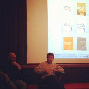 Roberto Ferrucci et Pascal Jourdana présentant leurs collections numériques.