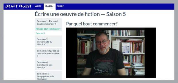 """En savoir plus sur le MOOC """"Écrire une œuvre de fiction"""""""