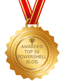 Awarded TOP 50 POWERSHELL BLOG