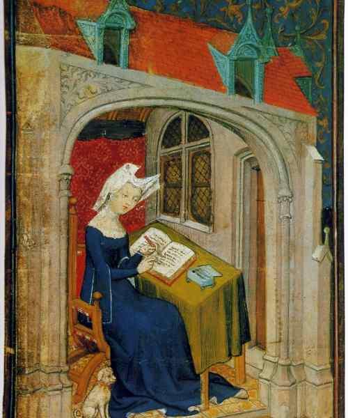 Christine De Pizan In Her Study 02