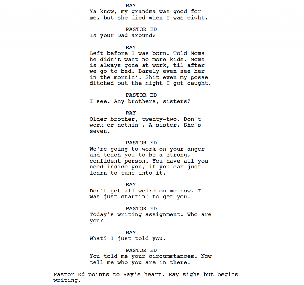 Script Dialogue If Your Characters Are Just Talking You Re Doing It Wrong