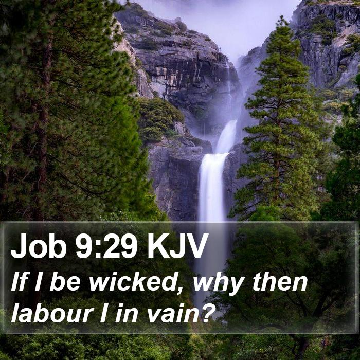 Job 9:29 KJV - If I be wicked, why then labour I in