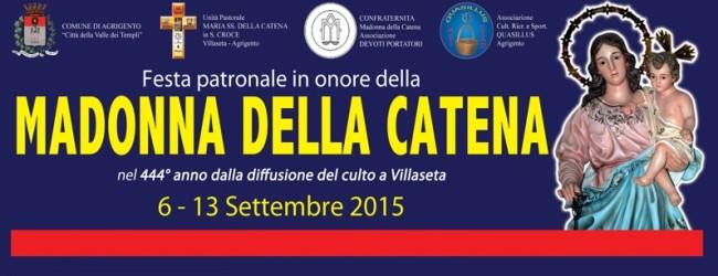 Dal 6 al 13 settembre a Villaseta la Festa in onore della Madonna della Catena – PROGRAMMA
