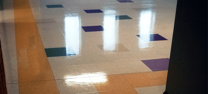 VCT Tile Floor in Activity Center