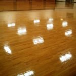 Minneapolis College Wood Gym Floor Finish Recoating