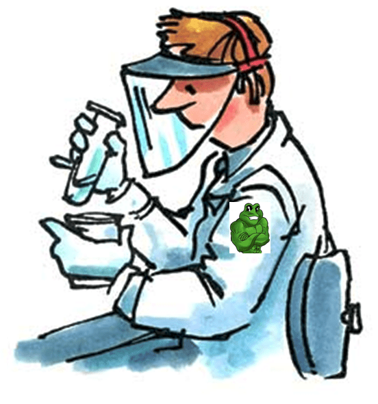 Water Color image of Lab Worker