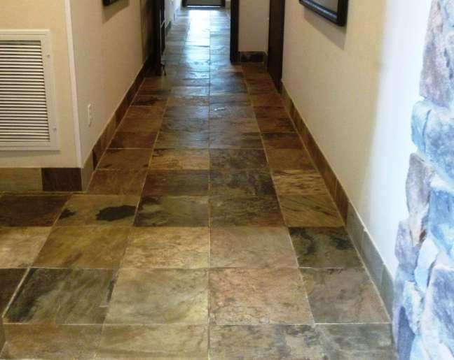 Slate floor tiles penetrating sealer