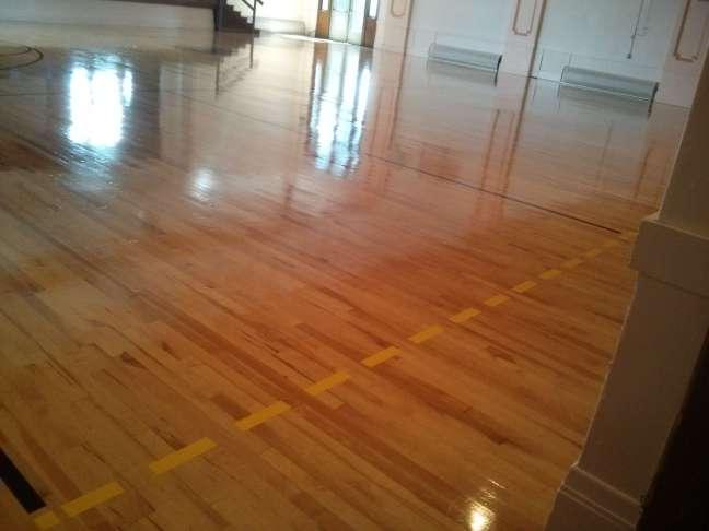 Wood gym floor clear coatings Minneapolis