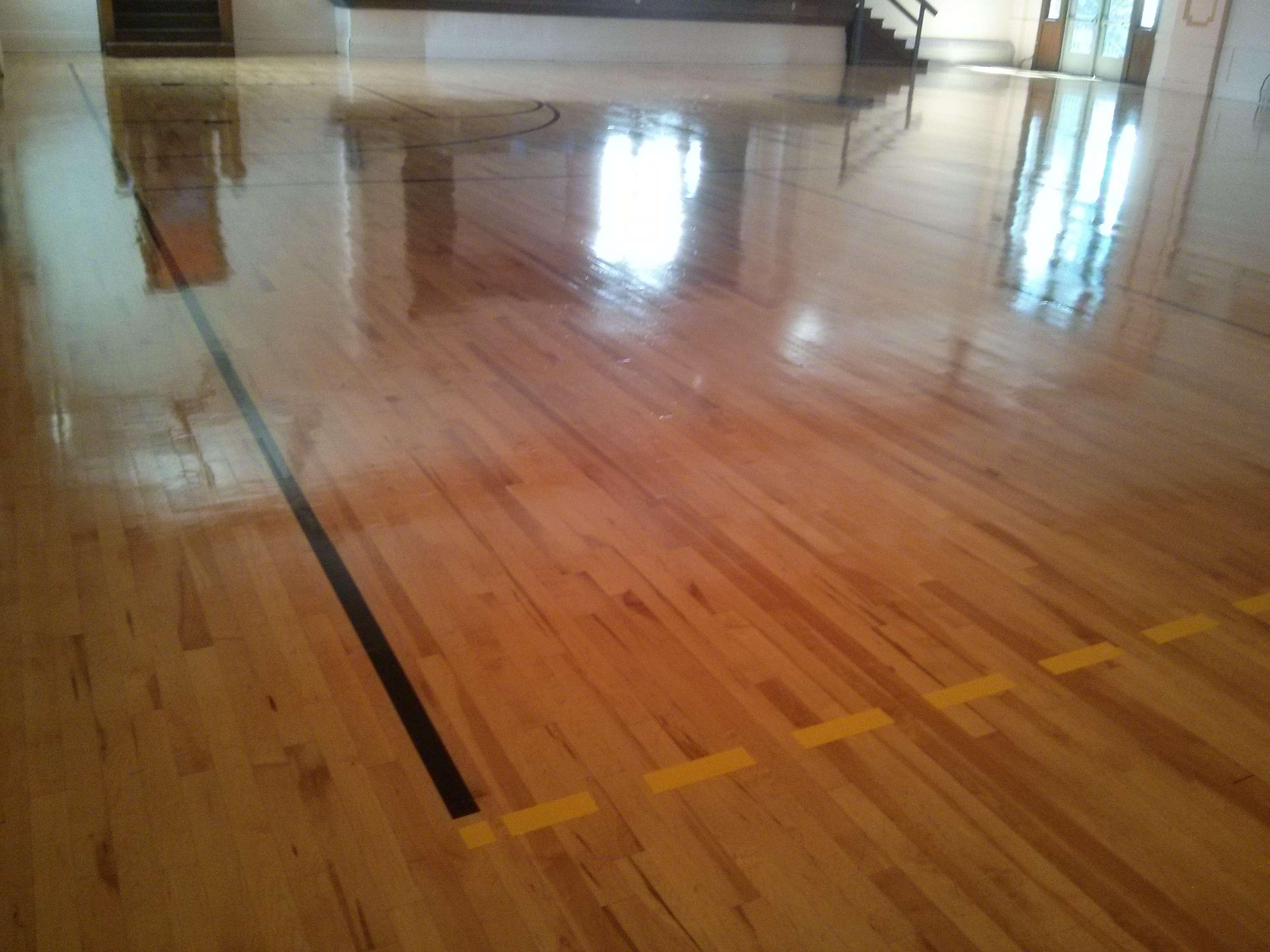 Wood gym floor coatings Minneapolis