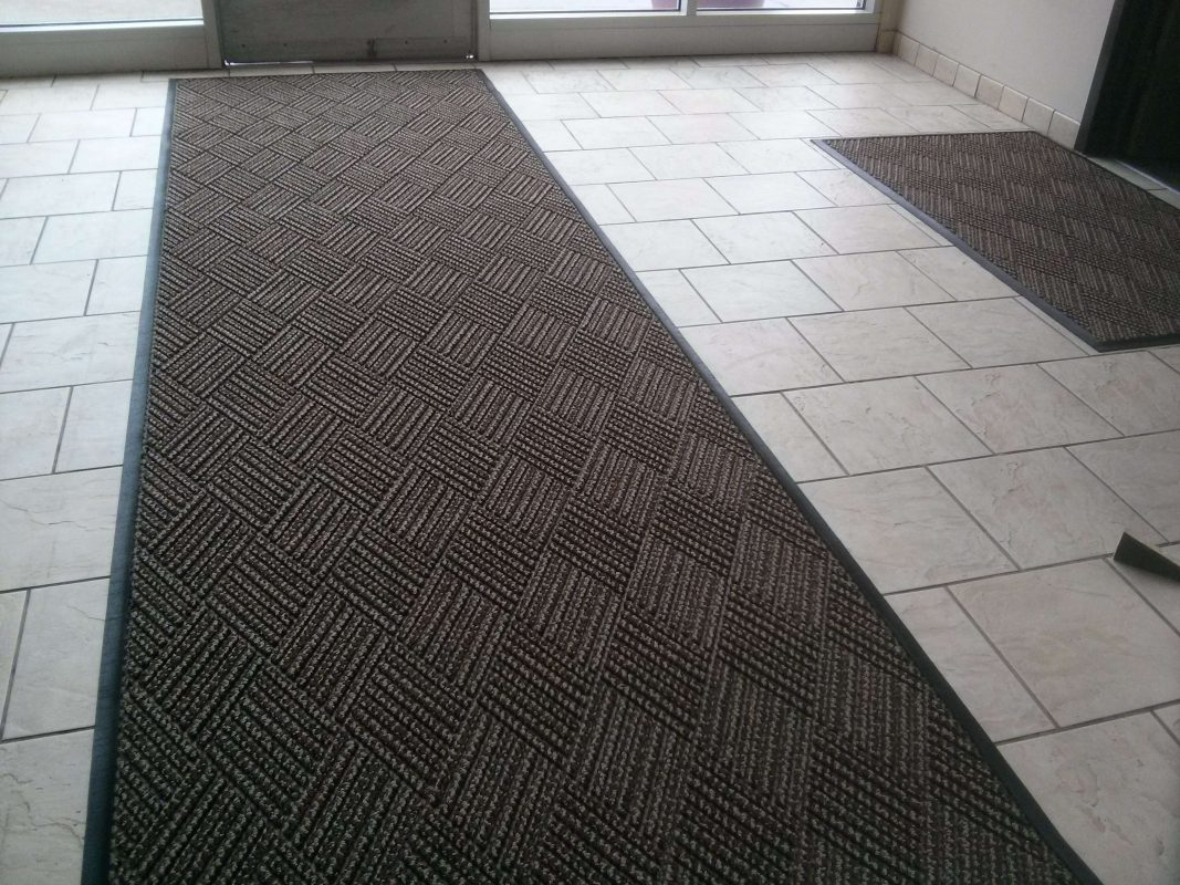 Custom commercial floor mats at www.Scrub-n-Shine.com