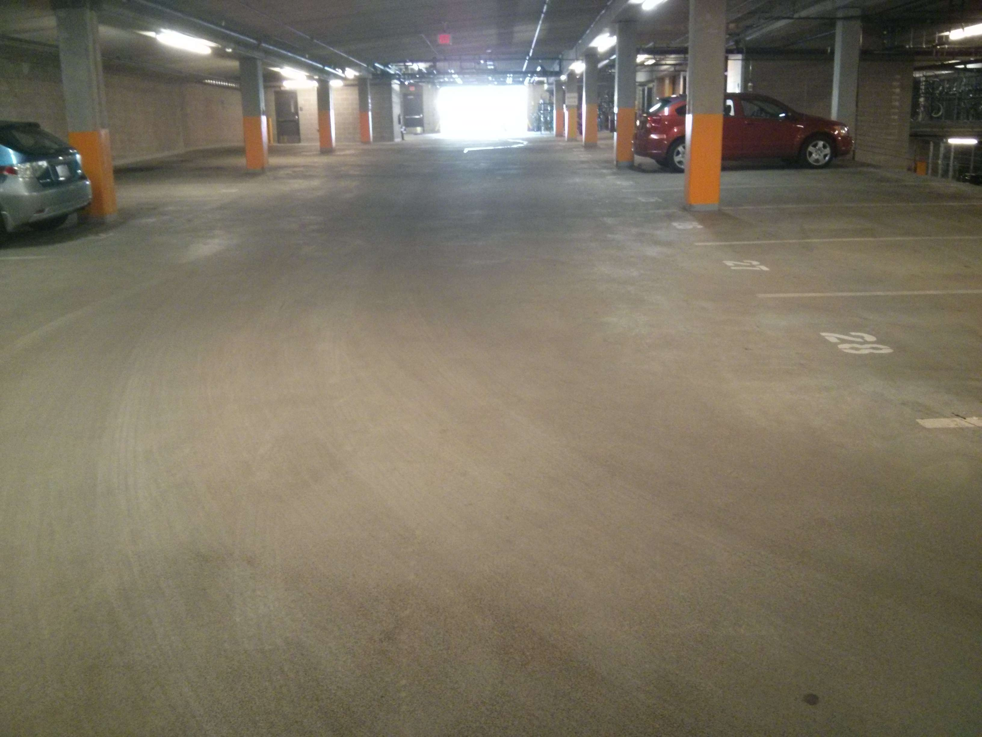 Schedule Your Parking Garage Floor Cleaning NOW - Garage floor tracks