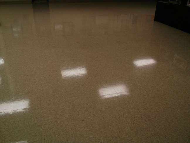 VCT Tile Floor Scrub and Re-Coat Twin Cities