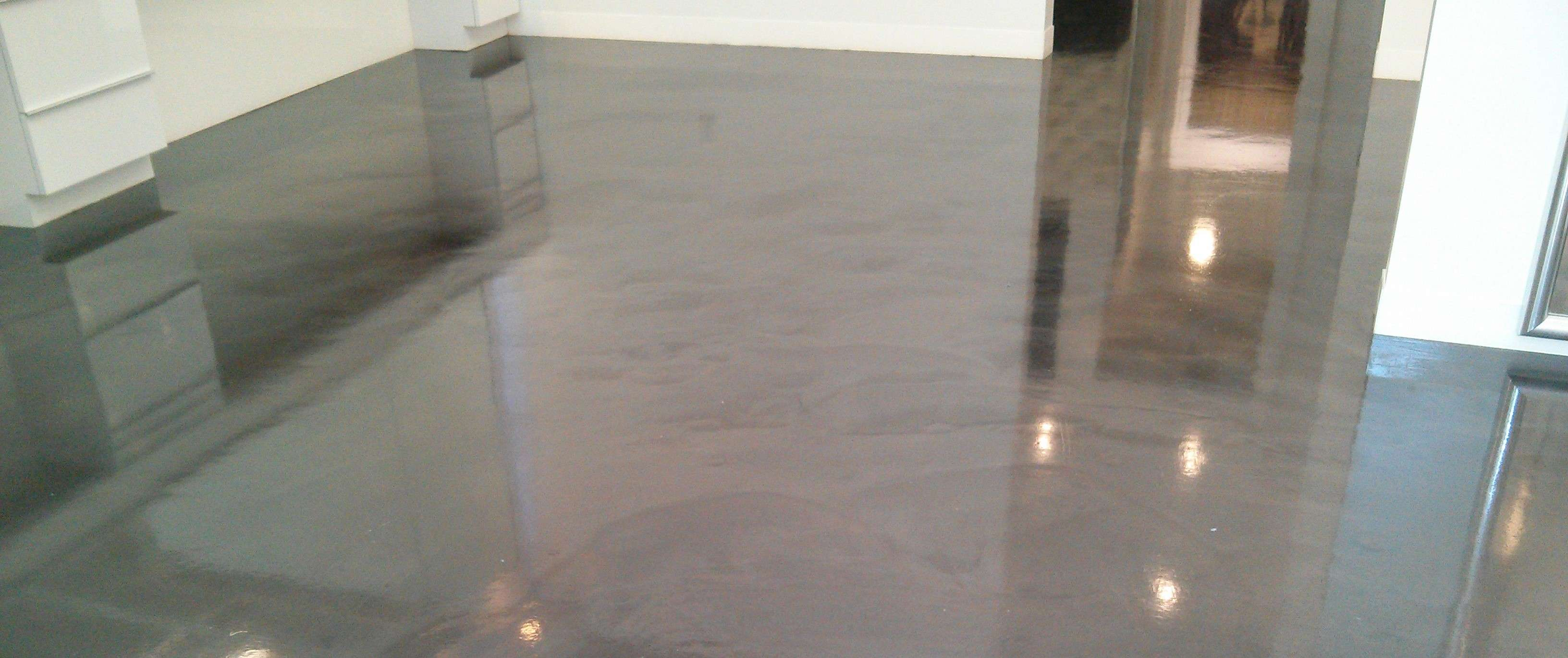 Polished concrete floor gets much needed scrub and recoat for Scrubbing concrete floors