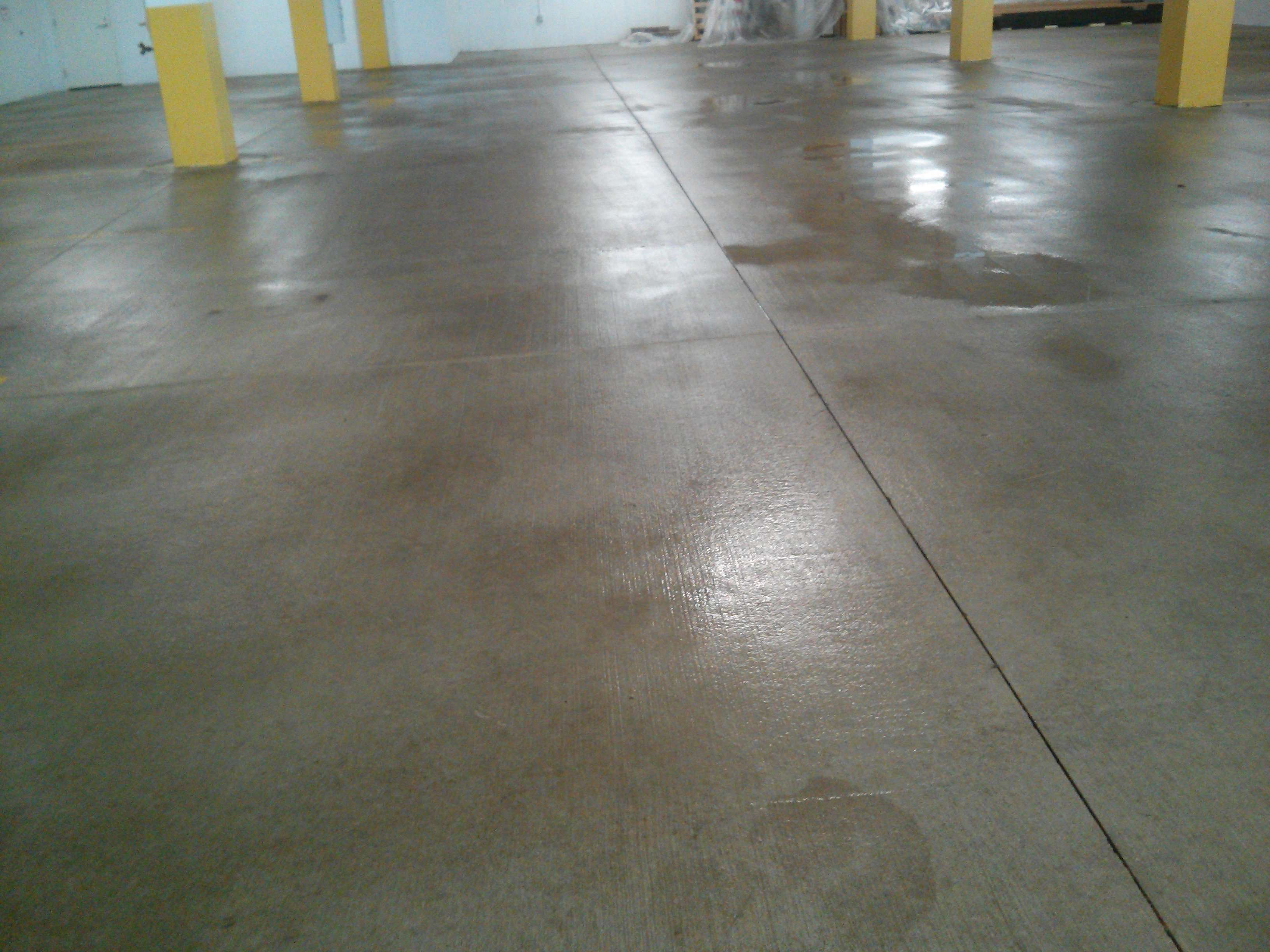Parking garage concrete floor pressure wash and power for Scrubbing concrete floors
