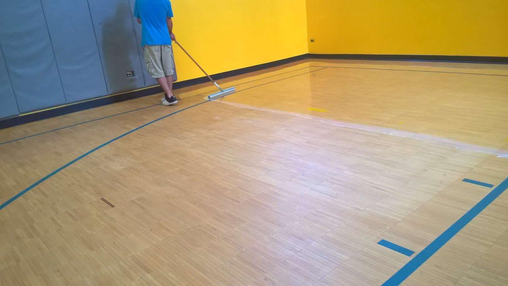 1-Part Urethane Acrylic Clear Finish for Wood Gym Floors MN