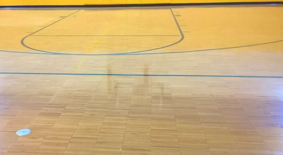 Wood Gym Floor Finish Service At A Church In Minneapolis Mn
