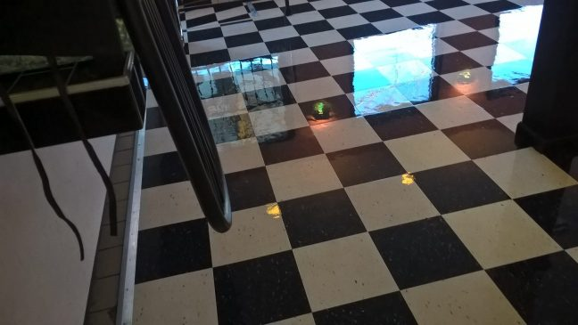 Minneapolis Restaurant VCT Floor High Gloss Clear Coatings
