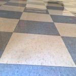 Old VCT Floor Restoration Job in Crystal MN