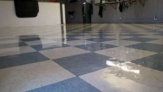 Old VCT Floor Finish Job in Crystal MN