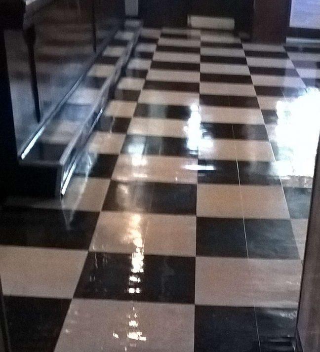 Old VCT Floor Re-Coat in St Michael Bar