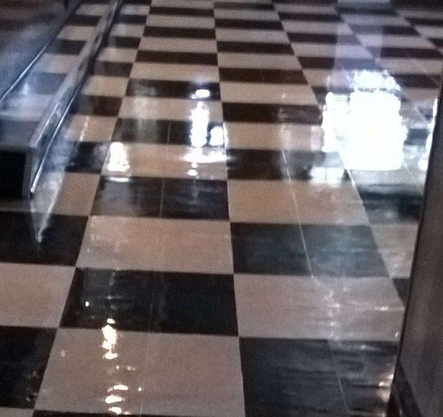 Old VCT Floor Re-Coat in St Michael MN Bar