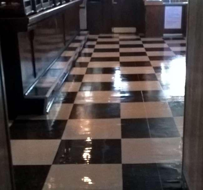 Old VCT Floor Re-Coat in Suburban Minneapolis Bar