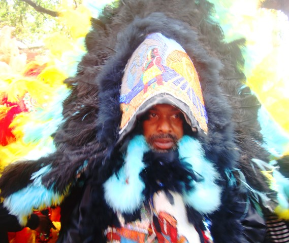 Mardi Gras Indian Chief at Super Sunday