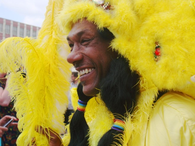 The Happiest Mardi Gras Indian I Saw All Day