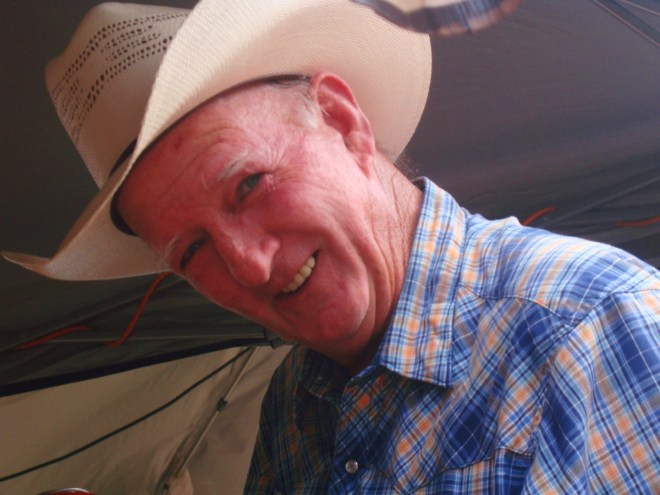 A Friendly Old Ranch Hand At The 2015 Brady Goat Cook Off