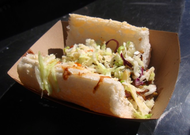 Grillade Po Boy From d'Juice at 2015 New Orleans Po Boy Festival