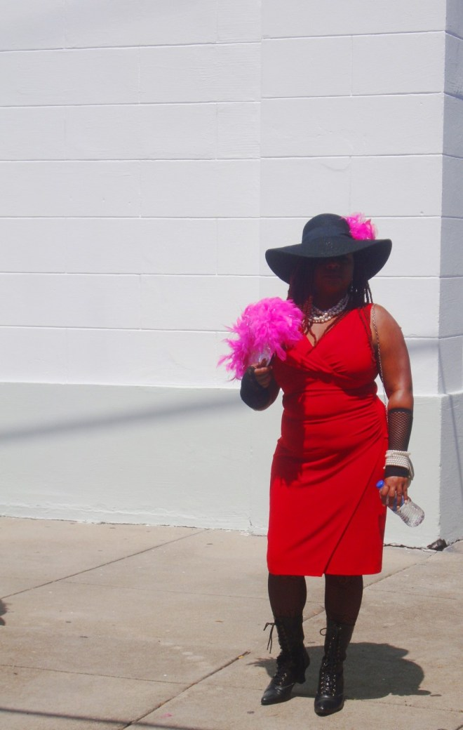 Lady In Red At Satchmo Summerfest
