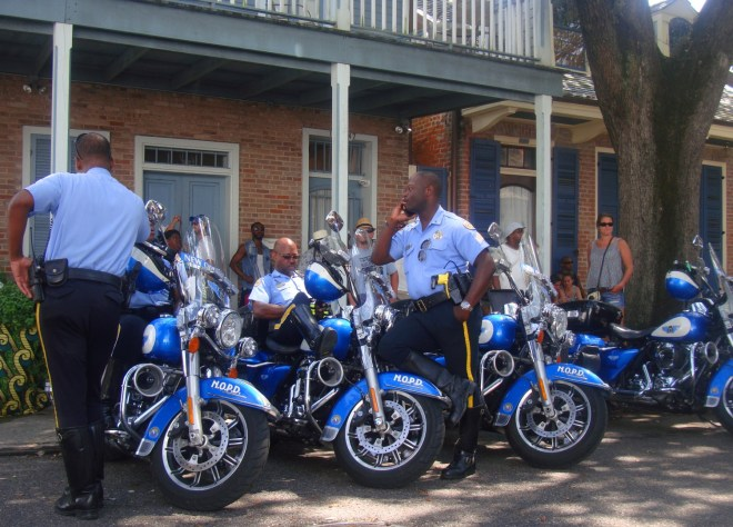 NOPD Taking A Break From The Summer Heat At Satchmo Summerfest