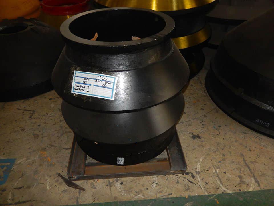 Metso HP100 Cone Crusher Parts, BOWL LINER PN 55208000 MANTLE PN 55308122
