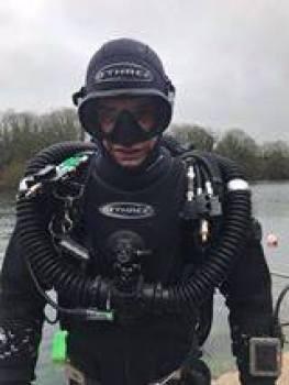 "Andy adopting the ""Cool, Tough Diver"" pose."
