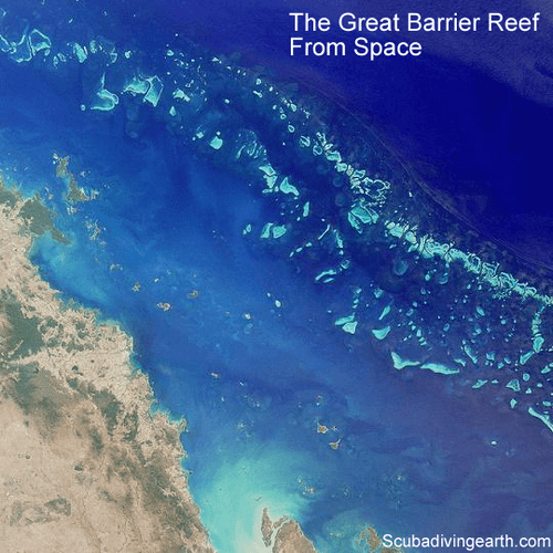 The Great Barrier Reef from space