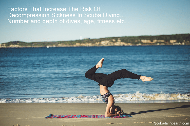 Factors That Increase The Risk Of Decompression Sickness In Scuba Diving include number of dives age and fitness