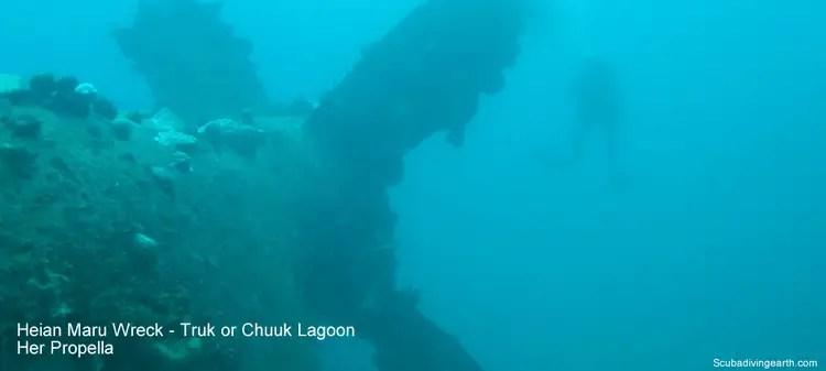 Heian Maru Wreck - Truk or Chuuk Lagoon - Her Propeller