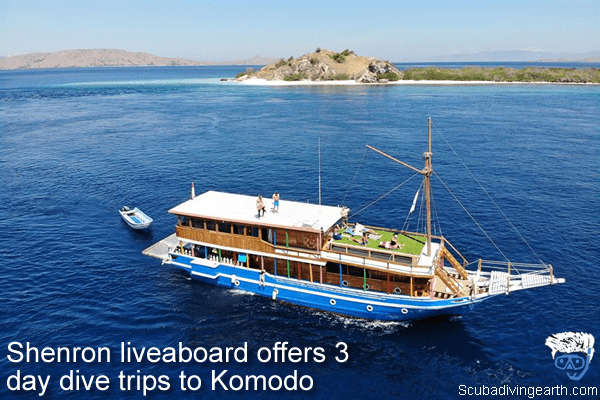 Shenron liveaboard offers 3 day dive trips to Komodo Indonesia