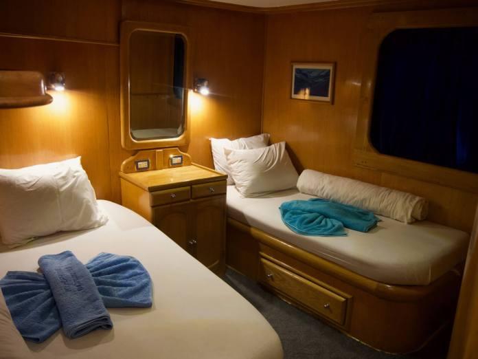 A cabin onboard Hurricane