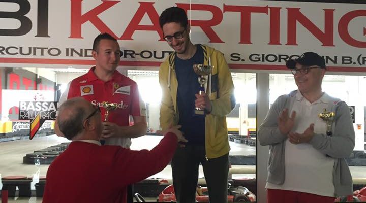 Podio gara kart vincitore