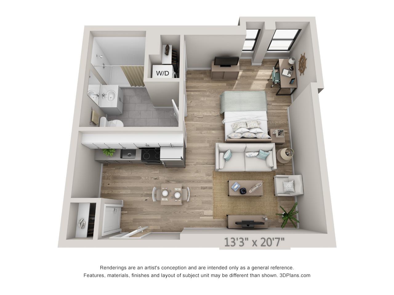 apartments in center city philadelphia - modern apartments - avenir