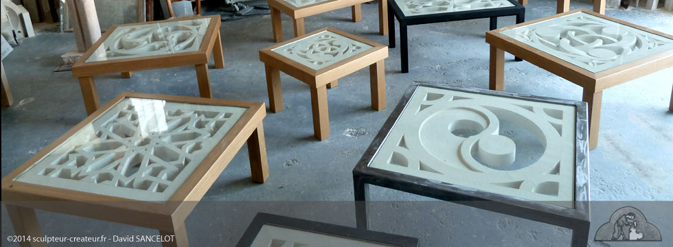 Table Basse En Pierre Taille Sculpteur Crateur