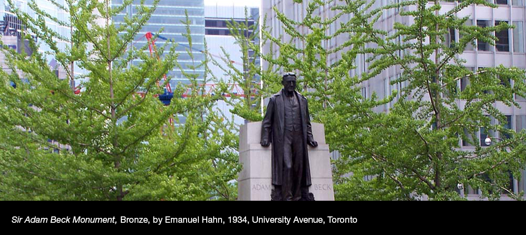 Sir-Adam-Beck-Monument-Bronze-by-Emanuel-Hahn-1934-University-Avenue-Toronto