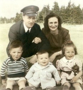 The young Daigle family with Delphis & Ida Daigle and their first three children: Bernadette, Tim, & Edouard.