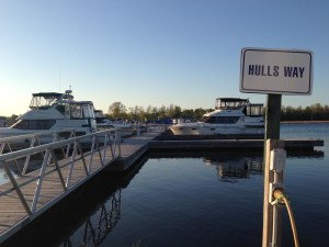 The stable docks at Rideau Ferry Harbour, Hulls Way